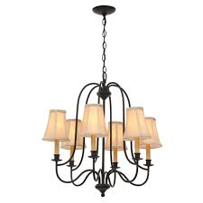 world imports brondy 6 light aged ebony chandelier