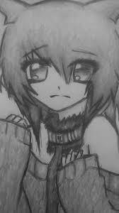 Sad Anime Girl My Art Drawings Illustration Entertainment