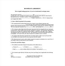 Sample Roommate Contract Master Lease Agreement Template Images Generic The Roommate Pdf Big