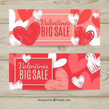hand drawn valentine s day banners