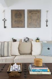 diy wall art ideas framed burlap