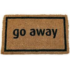 Decorating coir door mats pics : Entryways Go Away Black In X Non Slip Coir Door Mat Doormats That ...
