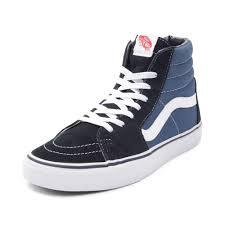 vans blue. alternate view: vans sk8 hi skate shoe - navy/white blue