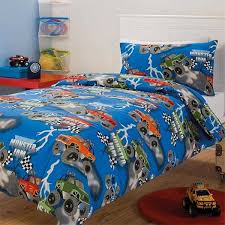 kid room kid room creative net tower shelving unit beside cool white bed with blue monster truck comforter