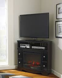 espresso finish small tv stands for bedroom featuring 4 side drawers and electric fireplace plus upper