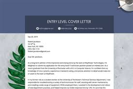 entry level cover letter how to write