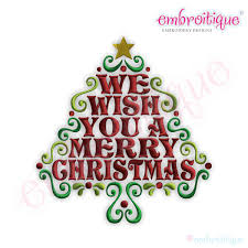 fancy merry christmas clip art words. Exellent Merry We Wish You A Merry Christmas Word Tree Embroidery Design  Small In Fancy Clip Art Words C
