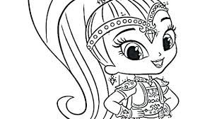 Interesting Shimmer And Shine Coloring Pages Stunning Coloring