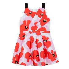 Flower Power Printed Poplin Dress