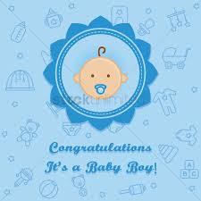 Congratulations For A Baby Boy Congratulations Its A Baby Boy Card Vector Image 1710032