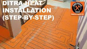 Heated Bathroom Floor Amazing DITRAHEAT Heated Flooring Systems Home Repair Tutor