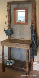 rustic reclaimed hall tree diy foyer home decor repurposing upcycling woodworking