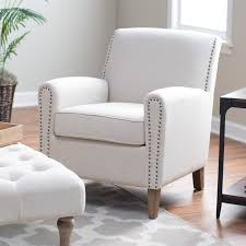Living Room Arm Chairs Abbyson Amelia Tufted Arm Chair Accent Chairs At Hayneedle