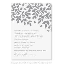 Microsoft Word Invitation Templates Free Download Printable Wedding Invitation Template Download Instantly