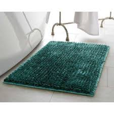 mega er chenille 17 in x 24 in bath mat in harbor teal