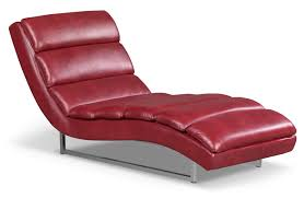 maddy leatherlook fabric chaise – red  the brick