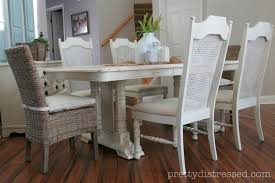White Distressed Kitchen Table Pretty Distressed Eleanors Table Before After