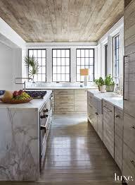 marble waterfall countertop kitchen island