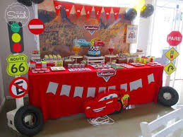 Lightning Mcqueen Birthday Party Cool Dessert Table At A Disney Cars Birthday Party See More
