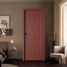 classic panel flush door with wood door frame