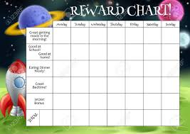 A Childs Reward Or Chore Chart With Spaces For Stickers Or Stars