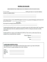 Lease Violation Form 7 Notice To Vacate Forms Free Sample Example Format Download In Move