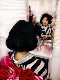 ゆるウエーブで作るレトロボブスタイルゆめやかたbeauty 着物ヘアカタログ