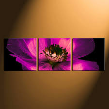 3 piece art flower wall art purple multi panel canvas panoramic canvas wall on canvas wall art purple flowers with 3 piece group canvas purple flowers multi panel art floral canvas