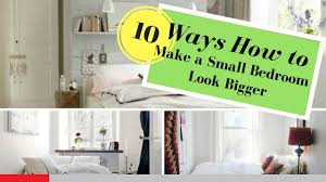 How To Make A Small Bedroom Look Bigger How To Make A Small Bedroom Look Bigger 10 Tips Youtube