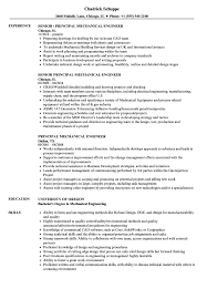 Principal Engineer Sample Resume Principal Mechanical Engineer Resume Samples Velvet Jobs 1