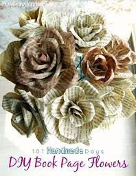 diy book page flowers make a set of these beautiful rose with pages from old