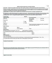 Office Incident Report Template Osha Accident Form Dental