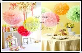 Diy Flower Balls Tissue Paper Decorative Pom Poms 8 Tissue Paper Flower Ball As Wedding