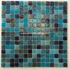 natural mineral hot melting glass gold line mosaic tile setting wall gold color glass mosaic tile