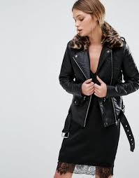 new look leather biker jacket leopard print collar black women jackets new look dresses officially authorized