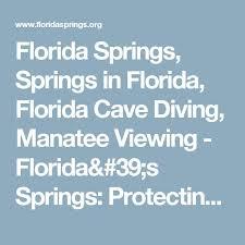 florida springs springs in florida florida cave diving manatee viewing florida springs protecting nature gems florida dep de leon springs