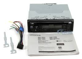 single din in dash cd am fm car stereo w 3 5mm front audio Wiring-Diagram Kenwood Deck at Kenwood Kdc 125u Wiring Diagram