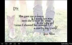 Country Love Song Quotes Magnificent Country Love Song Quotes For Him On QuotesTopics