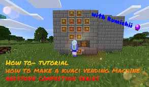 How To Make Vending Machine In Minecraft Pe Enchanting How To Make A Kuaci Vending Machine Tutorial Minecraft Amino