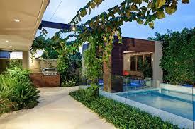 ... Cool Cream Rectangle Contemporary Ceramics Small Backyard Design Ideas  Decorative Swimming Poll And Grass