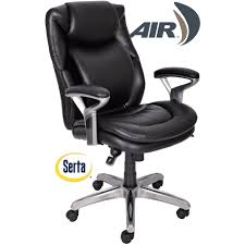 luxury leather office chair. serta air health and wellness midback office chair bonded leather smooth black walmartcom luxury