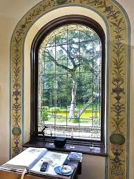 stained glass windows in houses stained glass windows arched window home office decor ideas stained glass stained glass windows