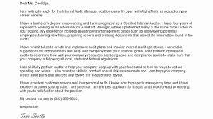 Sample Internal Audit Manager Cover Letter Best American Essays
