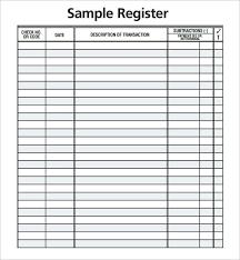 Checkbook Register Downloads Check Registers For Checkbooks Check Register 9 Download Free
