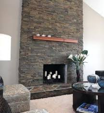 rock fireplace ideas faux stone fireplace mantel ideas