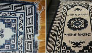 before after rug repair