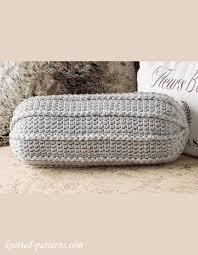 Pillow Patterns New Neck Roll Pillow Crochet Pattern
