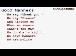 good manners rhyme good manners rhyme
