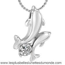 love dolphin hold crystal cremation urn necklace memorial for pet ashes stainless steel keepsake jewelry csj32zi3c5ur1885