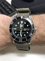 seiko new leather strap for my sea urchin